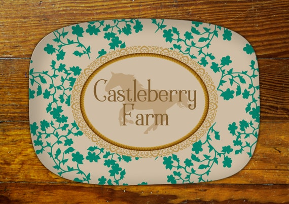 Personalized Serving Platter-Horse