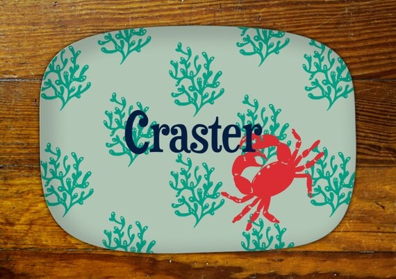 Personalized Serving Platter-Crab