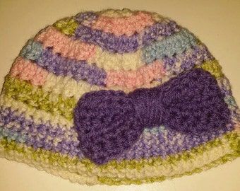 6-12 Month Crochet Hat with Bow