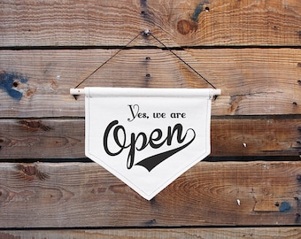 Canvas Hanging sign-Open/Closed