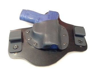 IWB Hybrid Leather and Kydex Holster for Smith and Wesson M&P Shield