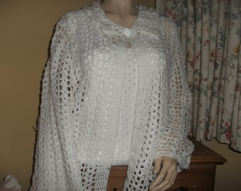 1950's Style Bed Jacket Hand Crochet in Ireland