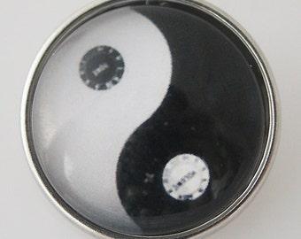 KB4311 Art Glass Print Chunk - Ying Yang