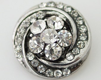 KB7403 ~ Beautiful Evening Look ~ Crystal Flower Surrounded by Smaller Clear Crystal Swirl