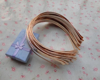 50pcs 5mm KC Gold plated metal headband with bent end--H3155-50