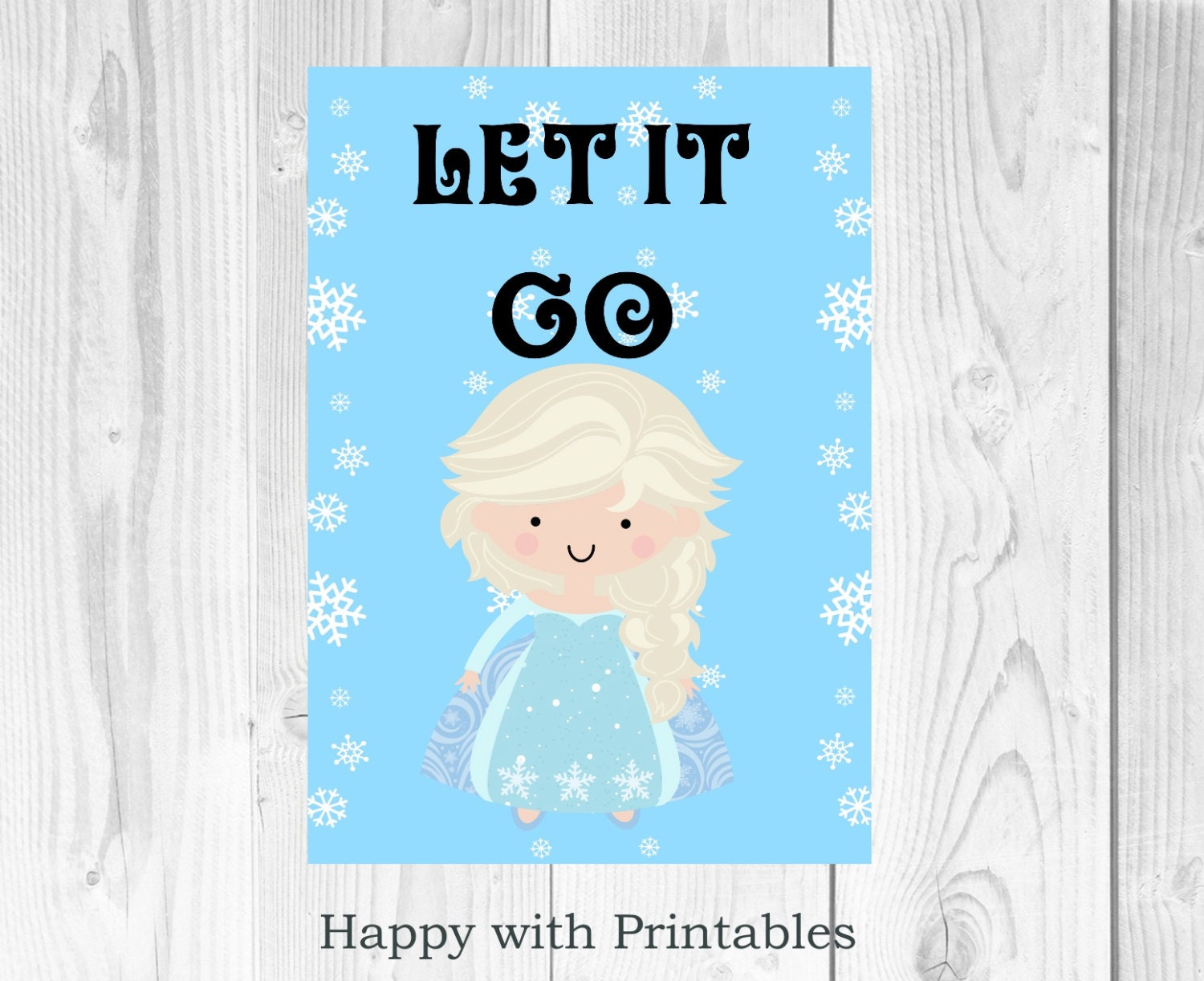 Frozen Elsa Poster Let It Go Printable By HappywithPrintables