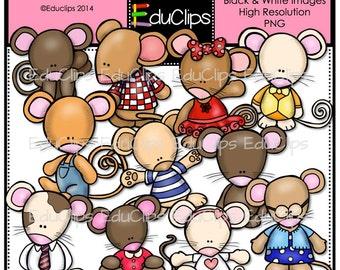 Mouse Friends Clip Art Bundle