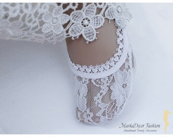 Lace Peep Socks, Heels Flats Socks, Pumps Toe Socks, Lacey Short Socks, Fashion Sock, Women's Floral