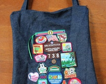 Girl Scout Badge Tote Bag Purse patch