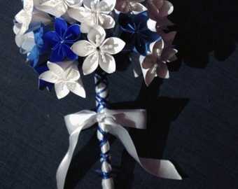 Wedding Bouquet blue & white