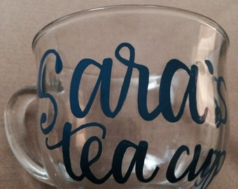 Personalized tea or coffee cup