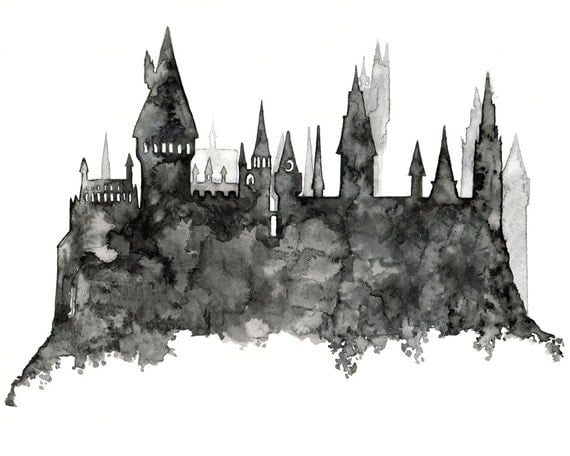 Clever image with hogwarts printable