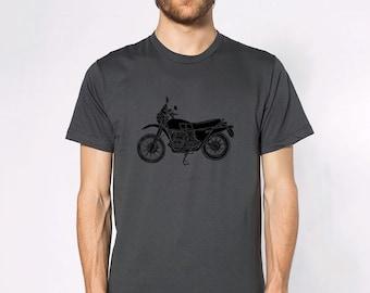 KillerBeeMoto: Limited Release German Engineered Vintage Dirt Bike Motorcycle Monochrome Short & Long Sleeve Shirt