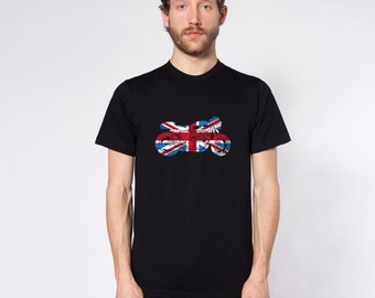 KillerBeeMoto: Limited Release Union Jack Cafe Racer Motorcycle Short & Long Sleeve Shirt