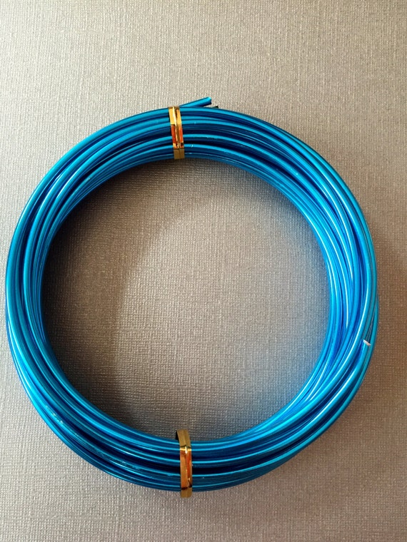 Blue aluminum wire 9 gauge 3mm 10 ft anodized wire for 10 gauge craft wire