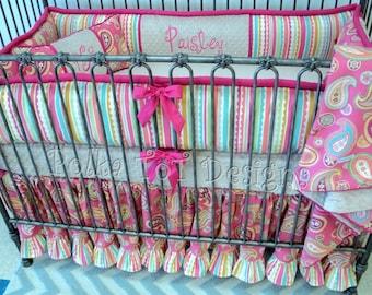 Paisley Crib Bedding