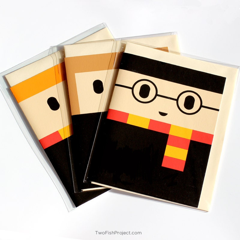 Harry Potter Greeting Cards Birthday Cards Set of 3 Harry