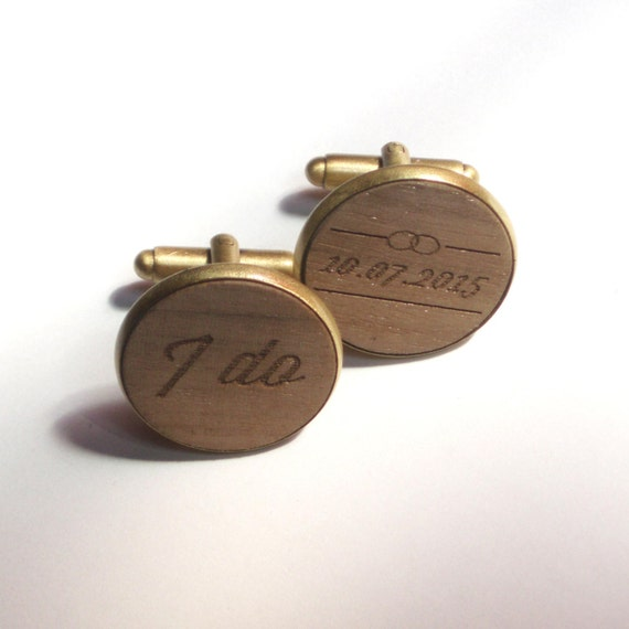 Groom gift custom wedding cufflinks by DARQDESIGN on Etsy
