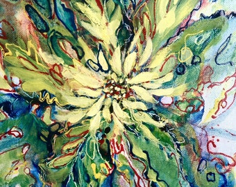 Abstract oil painting-Floral, abstract landscape