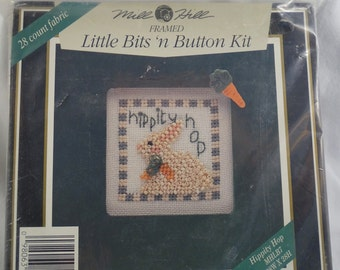 Mill Hill Framed Little Bits 'n Button Kit  Hippity Hop FREE Shipping USA