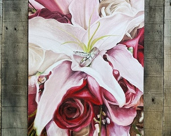 Custom Made to Order Photo Reproduction Paintings Wedding Anniversary Gift