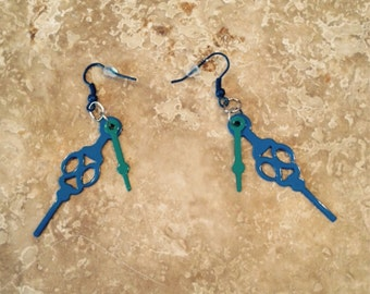 FREE SHIPPING!Hands of time earrings!