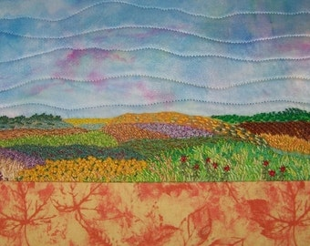 Fibre Artwork on Stretched Canvas