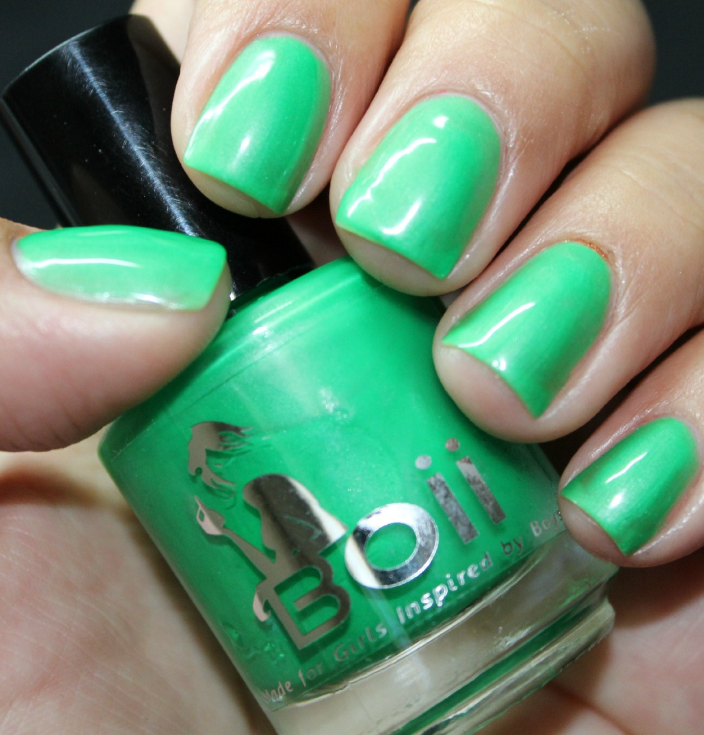 How Long To Let Nail Polish Dry Before Top Coat: Green Nail Polish Nail Polish Can We Talk Later By