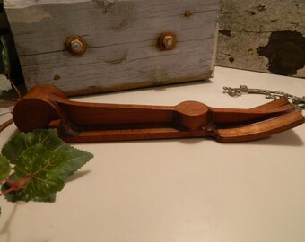 Vintage Industrial Foundry Wood Mold Steampunk