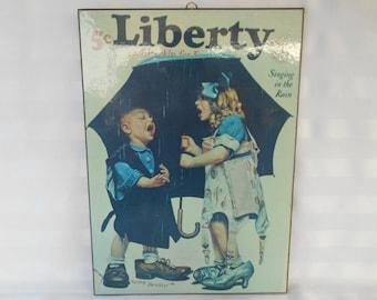 "Liberty Magazine Sign Plaque ""Singing In The Rain"""
