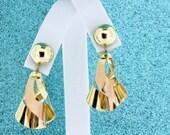 Twirling 14K Gold Earring Studs