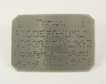 morusol font stamps professional series 6mm alphabet letters metal stamps