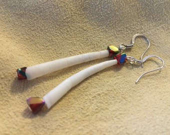 Native American style Dentalium Shell Earrings