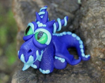 Baby Blue Dragon Figurine/Cake Topper