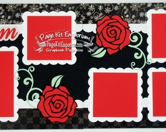 Scrapbook Page Kit Prom High School 2 page Scrapbook Layout 130