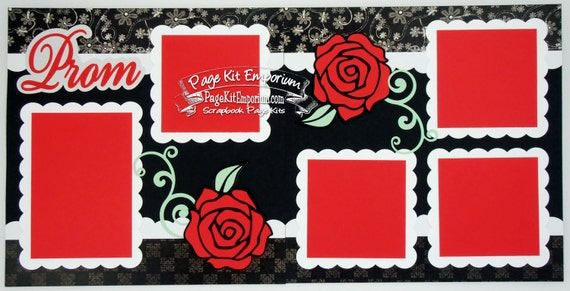 Scrapbook Page Kit Prom High School 2 Page Scrapbook