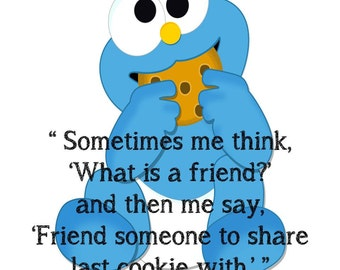Cookie Monster Friend Sign