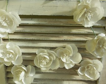 Wedding garland,Tissue Paper Flower Garland,Paper Wedding garland, party garland, wedding decoration,wedding flowers,custom garland,Rustic