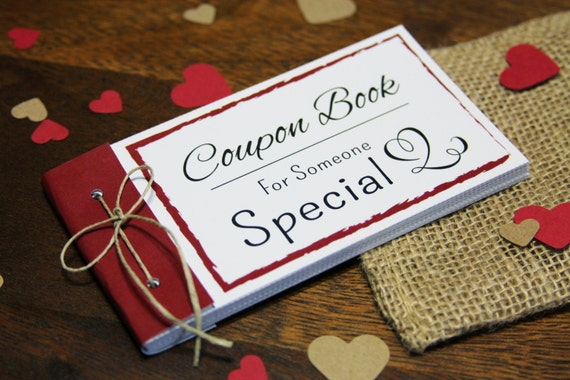 Coupon Book printable. Instant download gift. DIY PDF. Digital