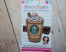 Chocolate Mocha Frappuccino Hair Clip - Felt Iced Coffee Hair Clip - Iced Chocolate Mocha Coffee Hair Clip - Brown Toddler Hair Clip