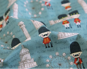 Cotton Fabric London Dark Mint By The Yard