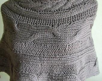 women's knit wool shoulder cover