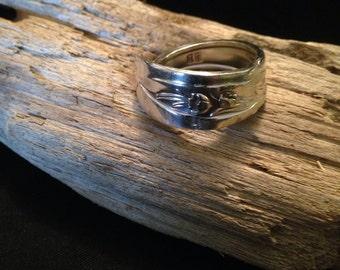 Unique silver spoon ring