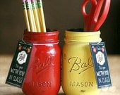 Teacher Appreciation Gift-Teacher Gift-Teacher Mason Jar-End of year teacher gift-Office-Desk-Pencil Holder