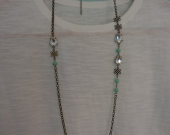Antiqued Long Necklace