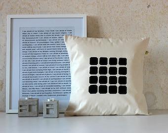 Geometric Pillow - Abstract Berlin Pillow Case - Kaiser-Wilhelm-Gedächtniskirche
