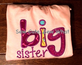 Big Sister Appliqué Shirt