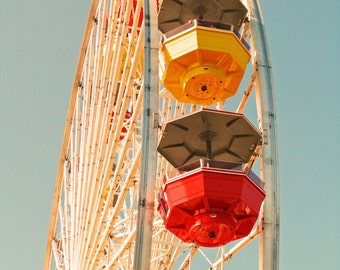"Santa Monica, Los Angeles, California, USA. Wheel & Sky: 5"" x 7"""