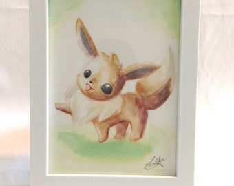 Original Watercolor of Eevee