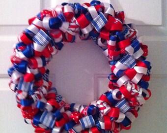 Handmade Americana Ribbon Wreath